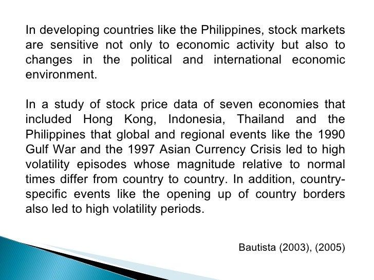 Economics thesis philippines