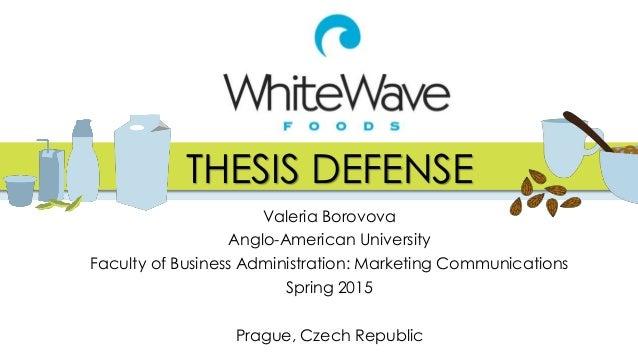 thesis defense food