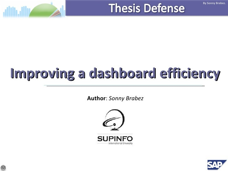 Improving a dashboard efficiency Author :  Sonny Brabez