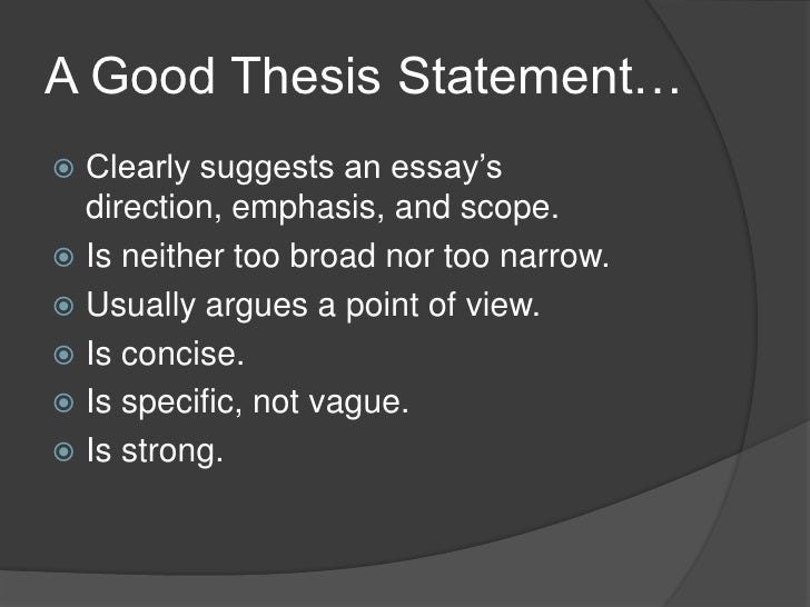arguable thesis statements examples