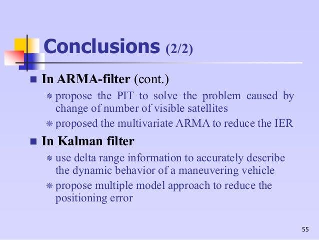 Kalman filter thesis