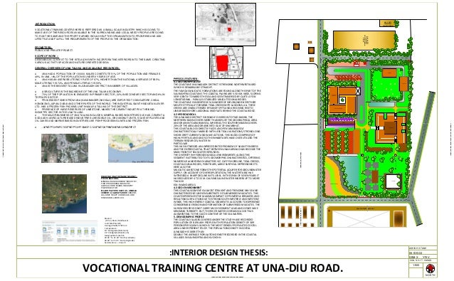 Interior Design Thesis on Vocational Training centre