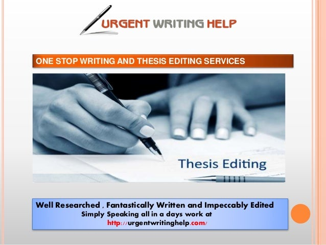 Thesis editing services network