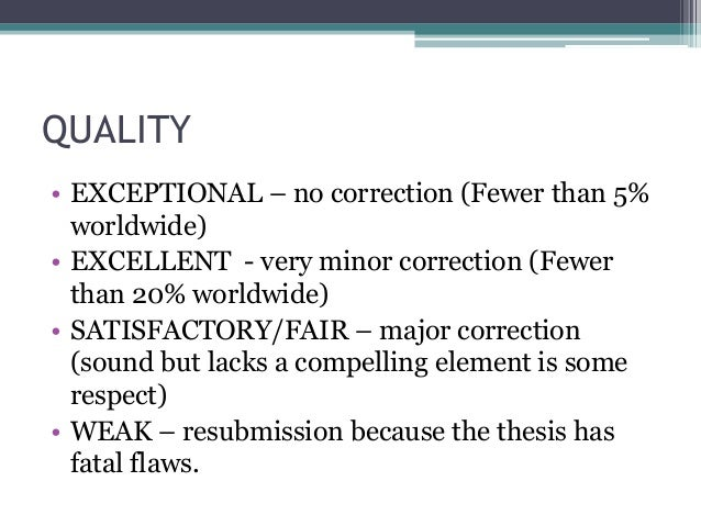 thesis criteria -1-criteria for evaluating masters and doctoral theses dr ivan lowe march 2013 short definition of a masters thesis 1 a masters thesis is an initiation into serious.