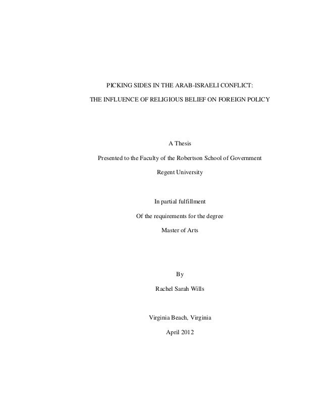 Masters thesis in political science