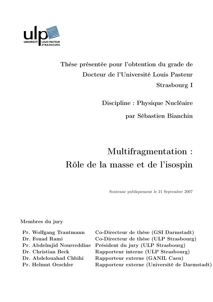 Thèse présentée pour l'obtention du grade de                      Docteur de l'Université Louis Pasteur                   ...