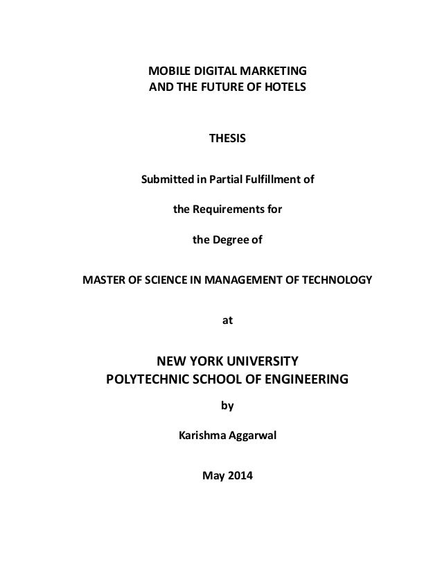 Master thesis digital marketing