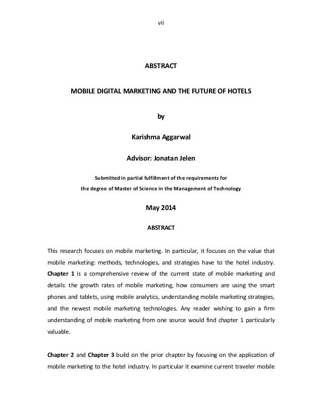 thesis digital marketing