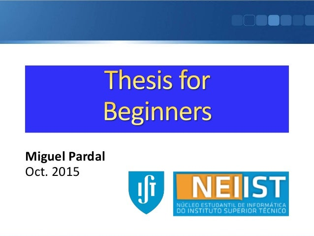thesis statement for beginners