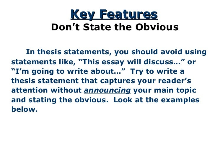 how to write a thesis statement for a book