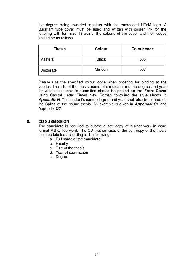 guidelines for dissertation muhs