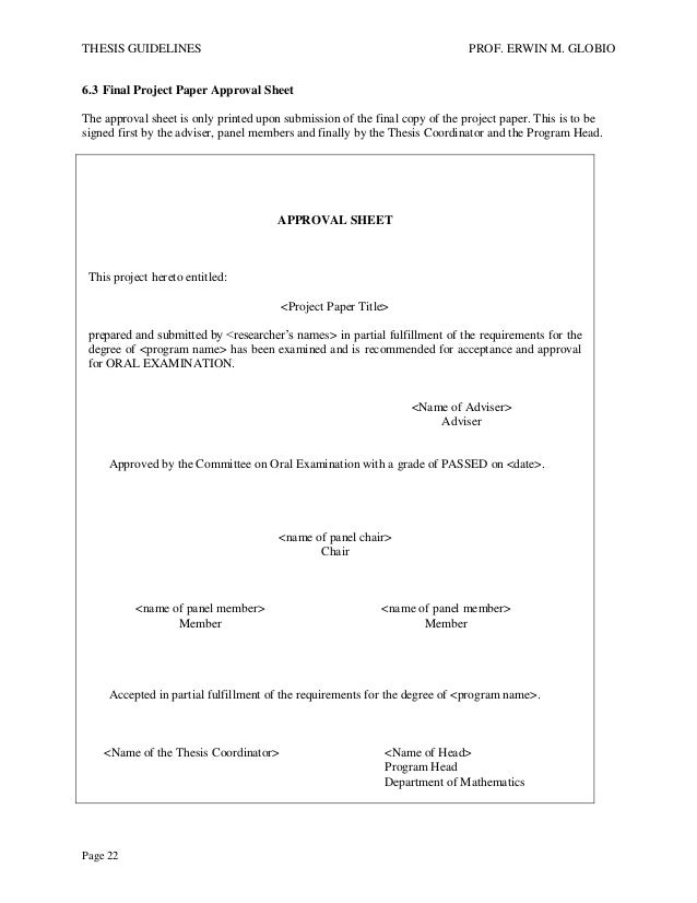 Approval sheet thesis