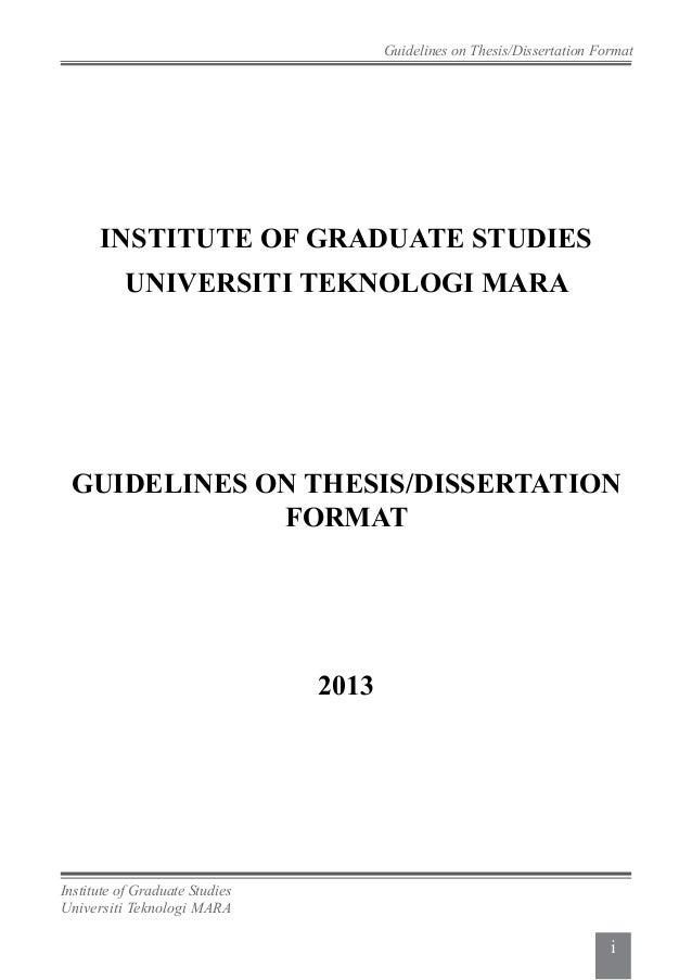 ipsis uitm thesis format