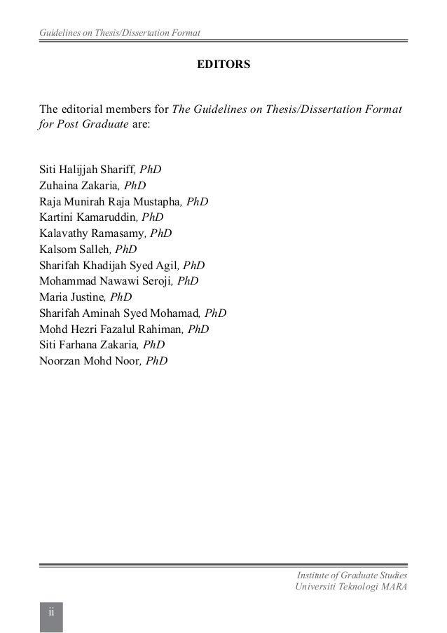 uitm thesis format 2013