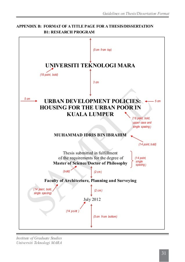 uitm thesis guideline
