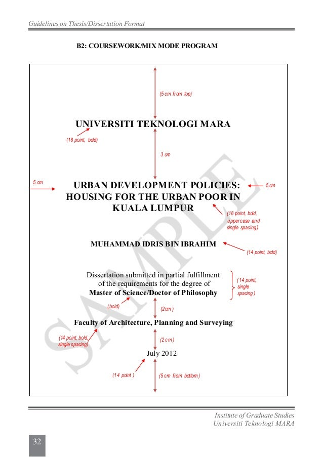 format thesis uitm 2014