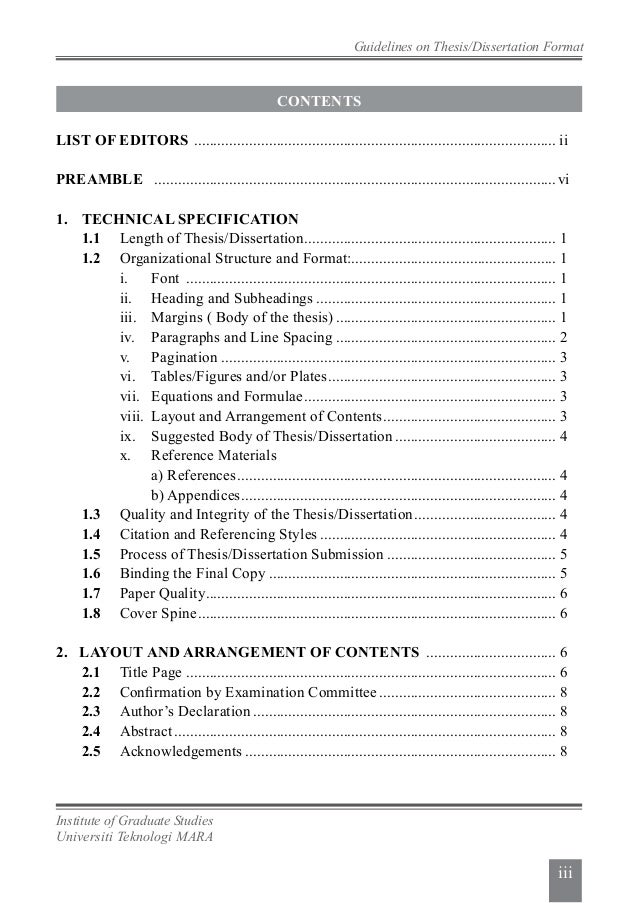 dissertation list contents The table of contents (toc) is an organized listing of the chapters and major   video 3 – table of contents, list of tables, and list of figures.
