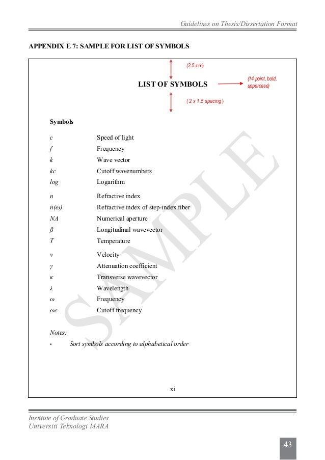 list of symbols thesis Master thesis list of symbols just imagine if you can create your own resume like a professional resume writer and save on cost now you can.
