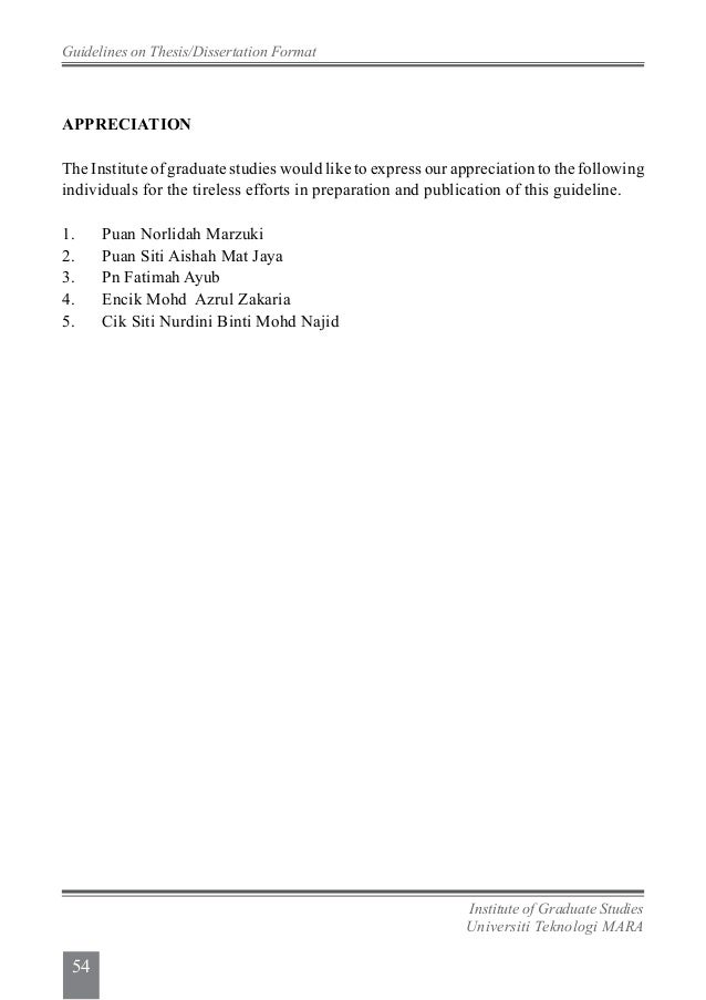 guidelines pertaining to phd thesis