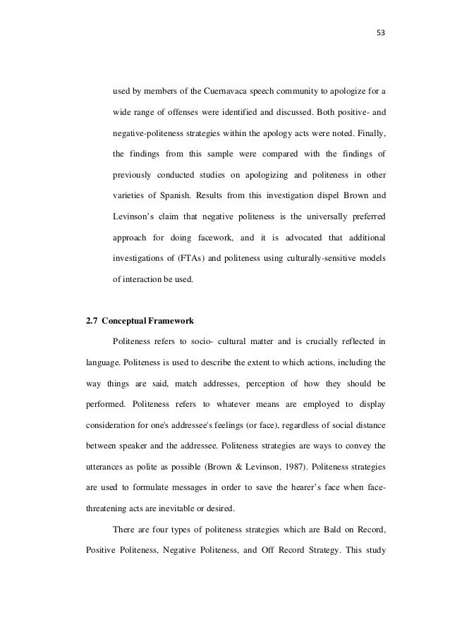realization of positive politeness strategies in Politeness strategies (positive politeness, negative politeness and off-record politeness) used by persian mono-lingual speakers in certain situations and to compare and contrast them with those employed in english, based on the model proposed by brown and levinson (1987: pp102,131) more specifically this study.