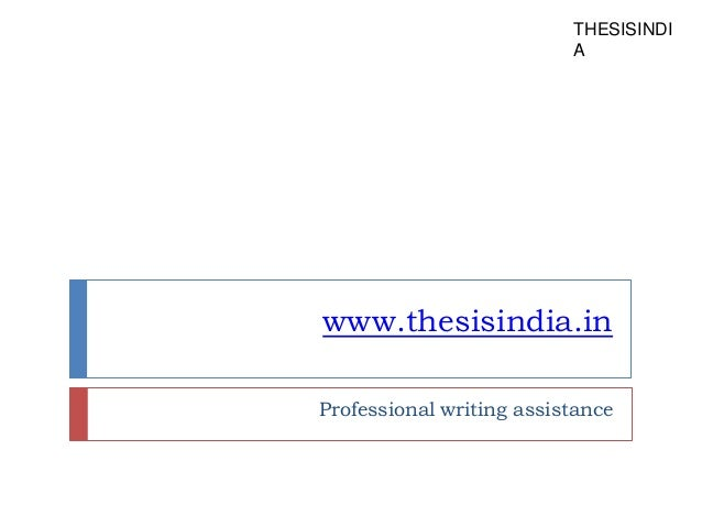 Dissertation writing assistance proposal