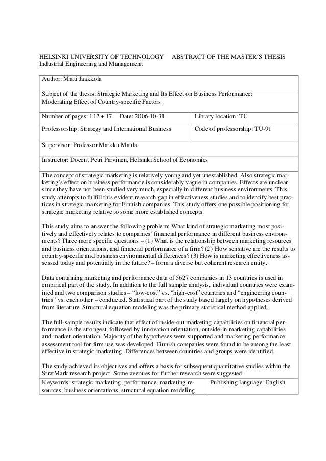 bachelor thesis marketingkonzept