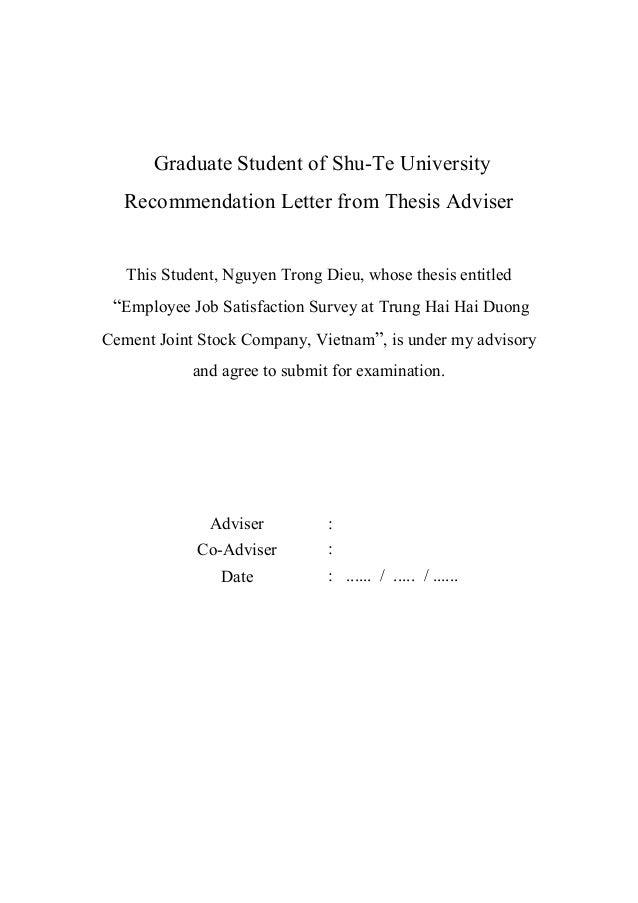 Masters thesis job satisfaction survey jos
