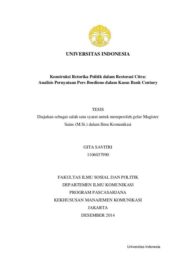 contoh judul tesis komunikasi politik