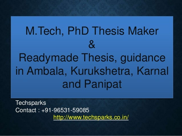 Readymade phd thesis
