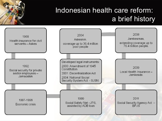 Moving toward universal health coverage of Indonesia ...