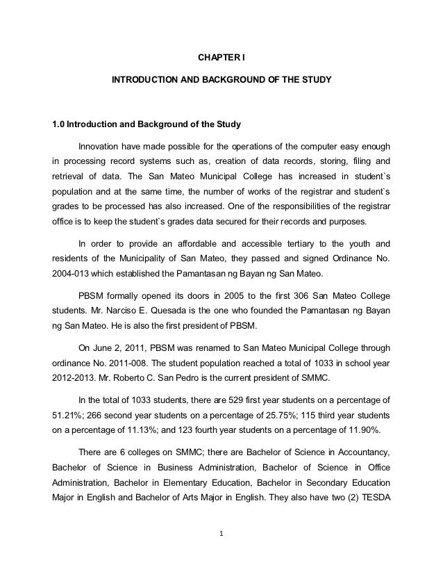 Statement of the problem enrollment system thesis