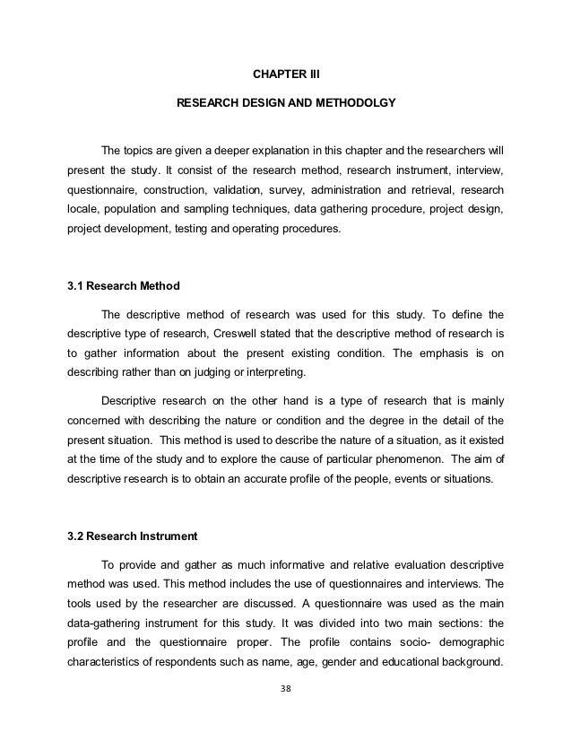 Descriptive research dissertation