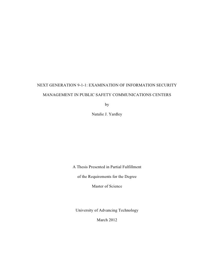 Information security risk management thesis