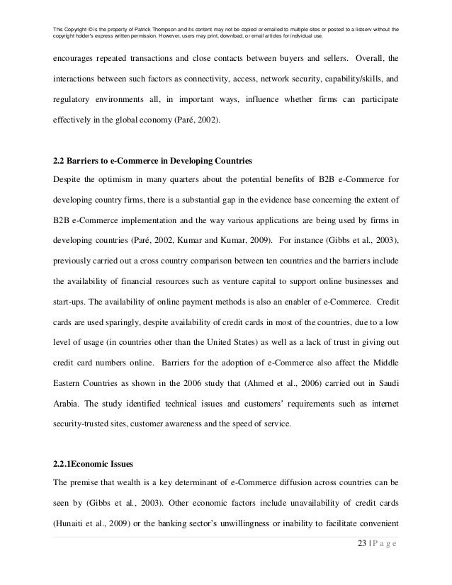 thesis in commerce
