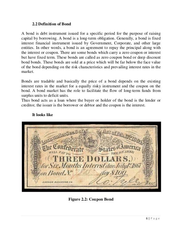 The history of war bonds market and its features