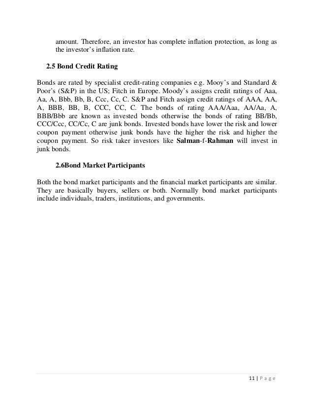 Bondholders thesis