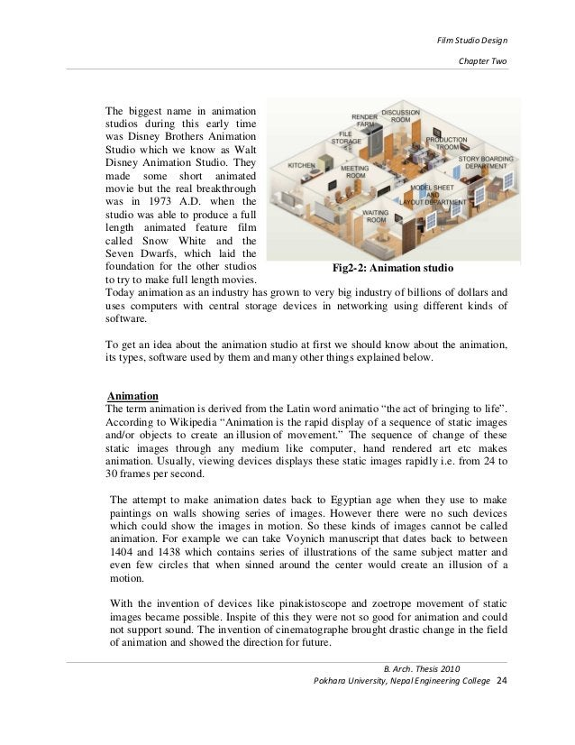Film Studio Design Chapter Two B. Arch. Thesis 2010 Pokhara University, Nepal Engineering College 24 The biggest name in a...