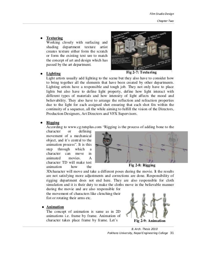 Film Studio Design Chapter Two B. Arch. Thesis 2010 Pokhara University, Nepal Engineering College 31 • Texturing Working c...