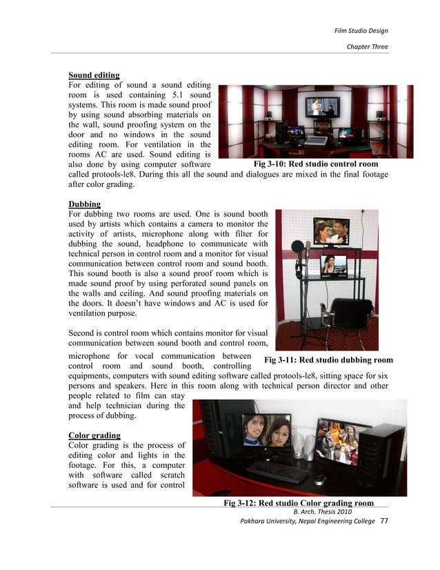 Thesis on film studio