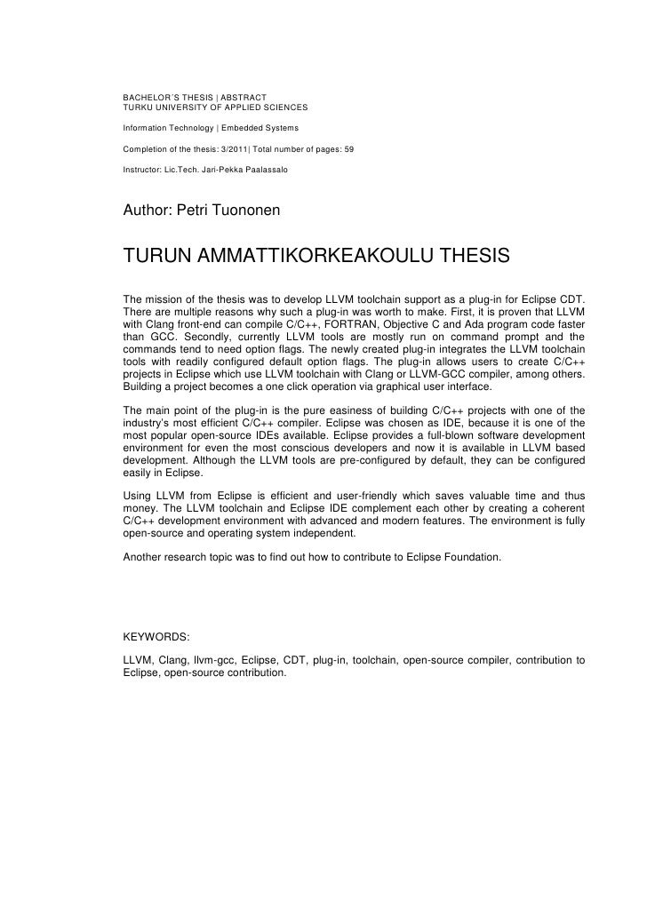 Wonderful Thesis Paper Template