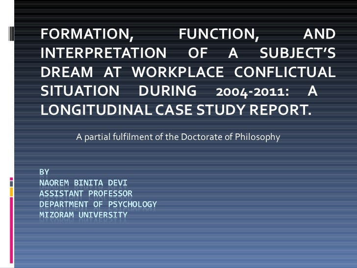 FORMATION,     FUNCTION,     ANDINTERPRETATION OF A SUBJECT'SDREAM AT WORKPLACE CONFLICTUALSITUATION DURING 2004-2011: ALO...