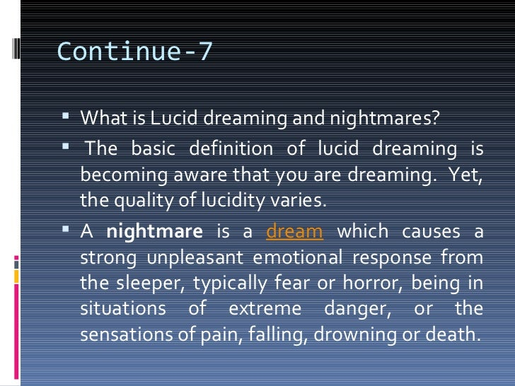 What is a lucid dream like