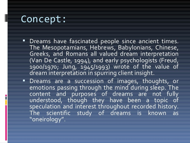 research paper on dreams outline