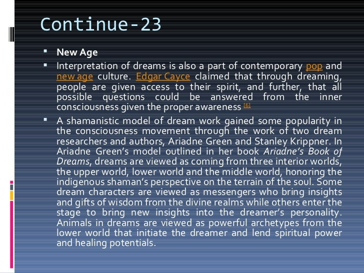 dream interpretation thesis Here is an analysis of the most famous paragraph in martin luther king's 'i have a dream' speech.