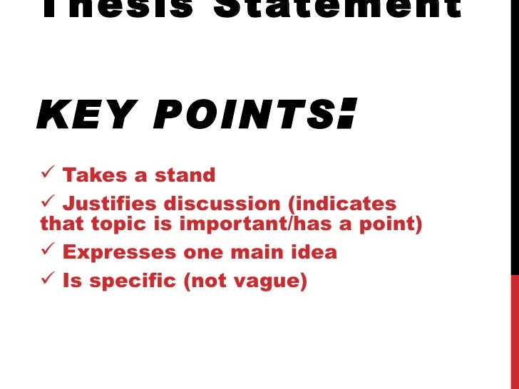 how to write a thesis statement  thesis statement