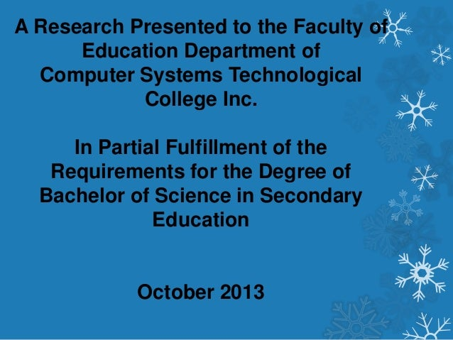 Thesis for computer technology