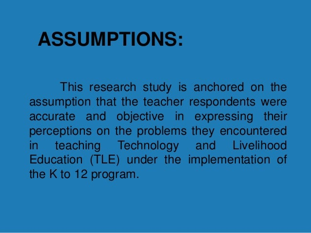 how to write assumptions of the study in thesis