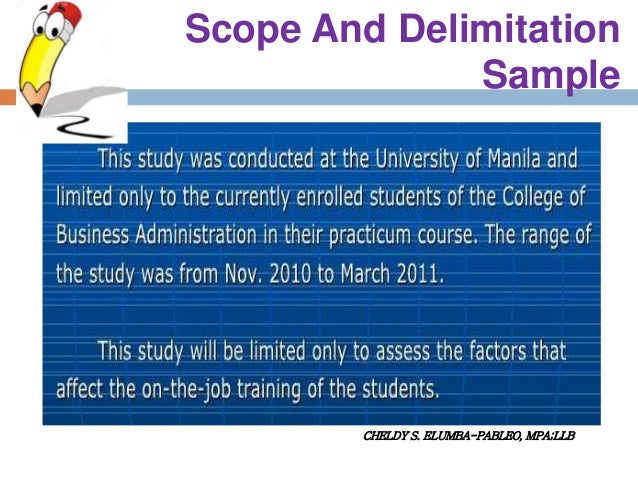 scope and delimitation socioeconomic profile of students