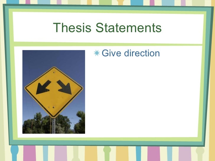 identifying thesis statements Identifying thesis statements every essay or research paper should have only one thesis statement thesis statements vs main ideas.