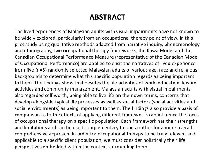 a study of the lived experiences Phenomenological study was to illuminate the lived experiences of both  indigenous and non-indigenous researchers conducting cul.